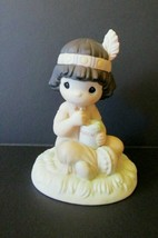 Vtg Precious Moments Club Members Edition Lord Keep Me In Teepee Top Shape 1991! - $9.85