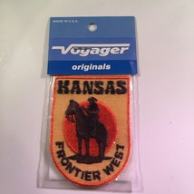 Vintage Retro Voyager Embroidered Patch Kansas Frontier West - $10.58