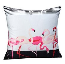 Cute Flamingos Decorative Cushion Covers Throw Pillow Cases 18 in,A8 - $26.44