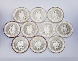 Lot of 10 2001 Australia $1 Silver 1oz Kookaburras (BU Condition) KM# 479 - $544.50