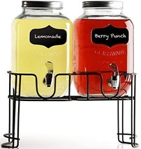 Circleware 92006 Double Chalkboard Beverage Dispensers with Metal Stand,... - $32.83