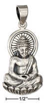 Sterling Silver Sitting Young Buddha Pendant - $64.99+