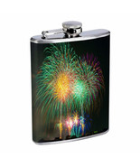 Fireworks Em1 Flask 8oz Stainless Steel Hip Drinking Whiskey - $13.81