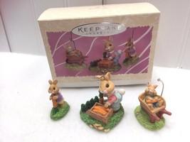 Vintage Hallmark Keepsake Ornament 1997 Spring Bumper Crop Bunnies 22486 - $17.36