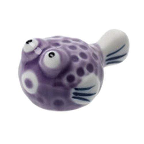 Panda Superstore Hand-painted Japanese Style Purple Puffer Ceramics Chopsticks H