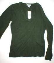 NWT New Womens Sweater Extra Soft Gabriella Rossi Cashmere S Dark Green 2 ply image 1