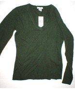 NWT New Womens Sweater Extra Soft Gabriella Rossi Cashmere S Dark Green ... - $55.20