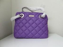 New Kate Spade Quilt Elizabeth Gold Coast Shoulder Handbag Hydrangea Pur... - $265.32