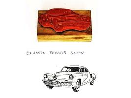 Collector Car Vintage Rubber Stamps Classic Tucker Sedan Rubber Stamp