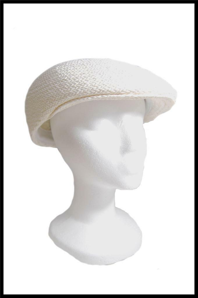 NEW Dorfman Pacific Company Straw Type Summer Hat All Natural Fibers Tan, White image 6