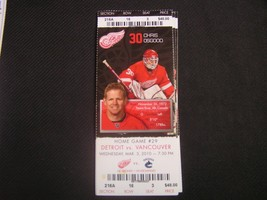 NHL 2009-10 Detroit Red Wings Ticket Stub Vs. Vancouver 03-03-10 - $2.96