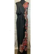 Catherines Dark Gray & Orange Paisley Print Sleeveless Maxi Dress 3X 26/28W - $33.33