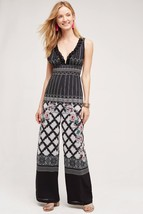 NWT $498 ANTHROPOLOGIE EOSTRE EMBELLISHED PRINT JUMPSUIT by VINEET BAHL S - $189.99
