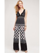 NWT $498 ANTHROPOLOGIE EOSTRE EMBELLISHED PRINT JUMPSUIT by VINEET BAHL S - $180.49
