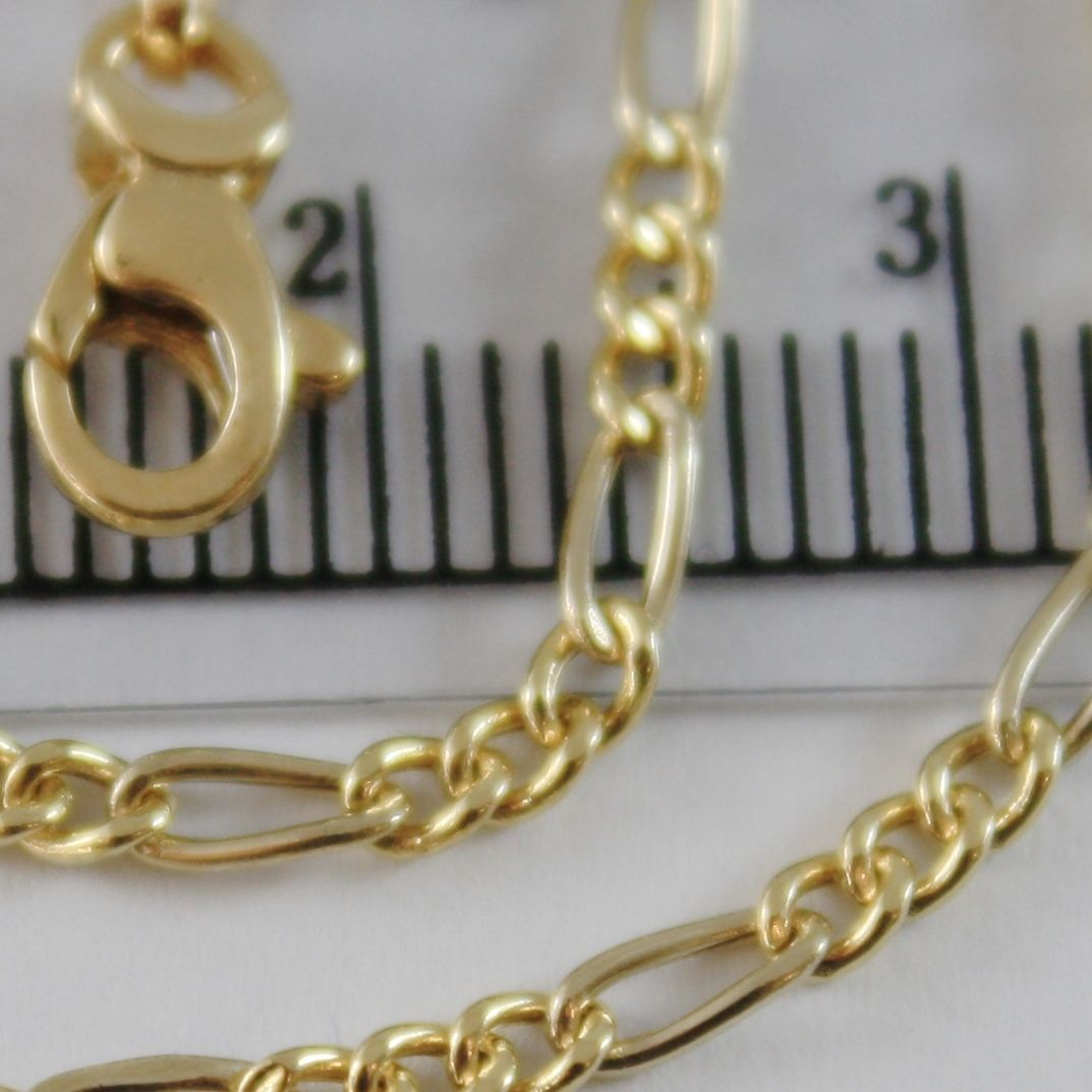 18K YELLOW GOLD BRACELET MINI CLASSIC ALTERNATE GOURMETTE MESH, MADE IN ITALY