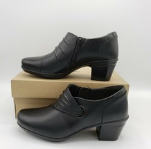 Clarks Womens Emslie Willa Leather Closed Toe Classic Pumps, Black, Size 5 - $45.53