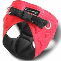 Dog Harness Small Dogs Vest Soft Red Walk Collar Safety Strap Pet Control Guard - $41.49