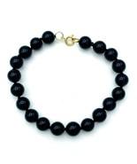 "Vintage Beaded Black Onyx Bracelet 7.25"" - $27.72"