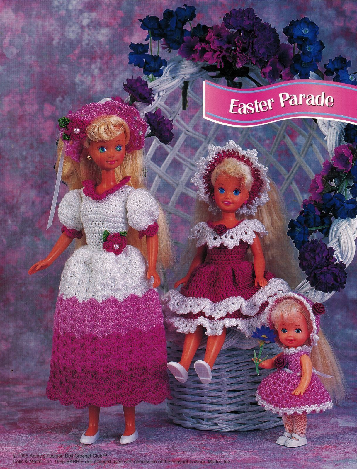 Easter Bunny Costume Dress Hat Suit 3 Sizes Barbie Doll Crochet Patterns image 2