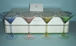 Kate Spade Lenox Larabee Dot Pop Mini Martini Glasses SET/4 Crystal 4 Colors New - $159.90
