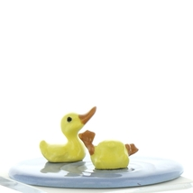 Hagen Renaker Bird Duck Baby Pond Ceramic Figurine Set image 6