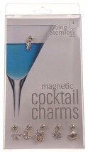 Going Stemless Nautical Wine Charms Cocktail Magnetic Set of 6 Drink Anc... - $39.99