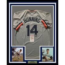 FRAMED Autographed/Signed JIM BUNNING 33x42 Detroit Grey Baseball Jersey... - $399.99