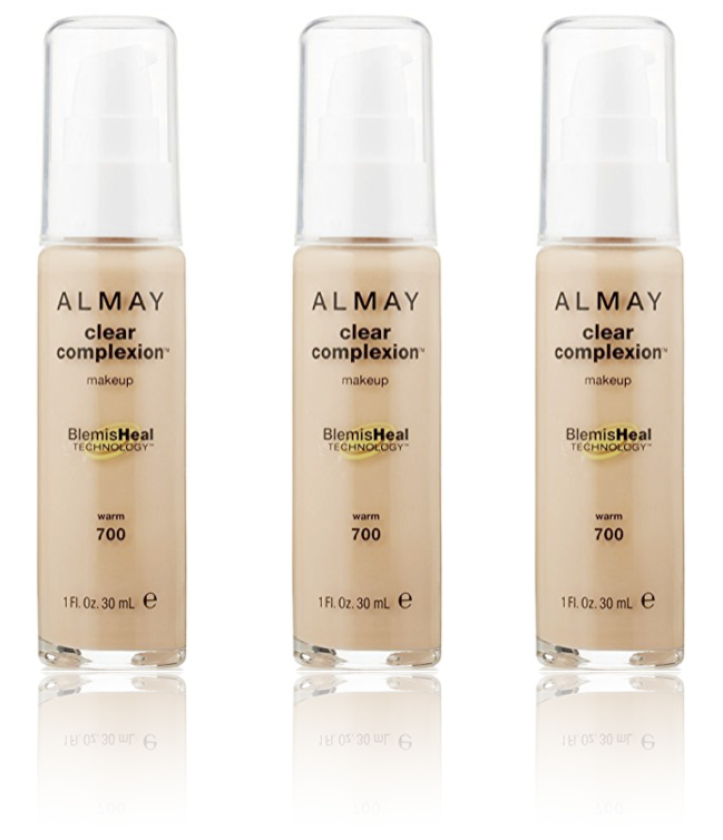 Primary image for (3-Pack) ALMAY Clear Complexion Liquid Makeup, Warm 700 - 1 fl. Oz (30 ml)