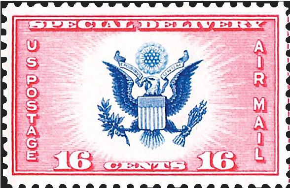 1936 Great Seal US Air Post Special Delivery Stamp Catalog Number CE2 MNH