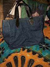 STEVE MADDEN Slick Denim Blue Tote Bag - $17.82