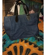 STEVE MADDEN Slick Denim Blue Tote Bag - $17.82