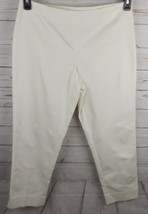 Ellen Tracy Cropped Pants Size 8 Off White Stretch - $14.24