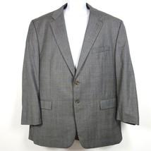 Chaps Ralph Lauren Wool Cashmere 2 Button Windowpane Plaid Blazer Jacket... - $39.99