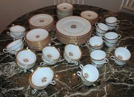 Minton Gold Crocus H-4765 Dinnerware Service for 10+ Plates Cups & Saucers - $824.00