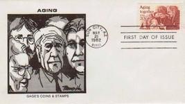 1982 FDC BRUCE HIGDON CACHET Scott# 2011 Aging together-unaddress-FREE SHIP - $1.24