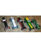 LOT 5 VINTAGE BOY SCOUTS BSA PINEWOOD DERBY WOODEN RACE CAR - $98.99