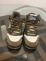 Nike NYX Contra Men Skateboarding Shoes Size 9.5 Brown Birch, Blue Suede... - $49.49