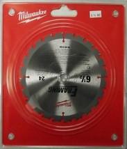 "Milwaukee 48-40-4108 6-1/2"" x 24 Carbide Tooth Saw Blade Clamshell Japan - $7.92"