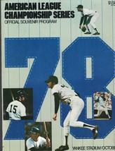 1978 AL Championship Series Program NEW YORK YANKEES at Kansas City Royals - $15.37