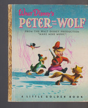 Peter and the Wolf Little Golden Book Walt Disney 4th print - $10.08