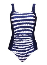 Women's One Piece Athletic Bathing Suit Backless Sports Swimsuits-KJQ804-BAC4 - $24.54