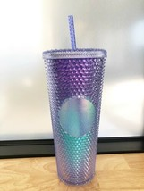 Starbucks Blue Ombre Bling Studded Cold Cup Tumbler 24oz Summer 2021 - $79.19