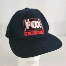 Fox News Strapback Hat Cap Black Embroidered Acrylic Wool Trump Hannity ... - $39.99