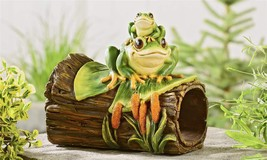 Frog on a Log Rain Spout Cover