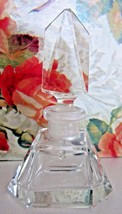 """Vintage Czech Perfume Bottle~Dauber Intact~Signed~3 1/2"""" Tall~Collectibl... - $135.19"""