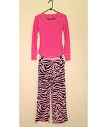 Jenni by Jennifer Moore L/S Waffle Knit 2PC Pajama Set Zebra Love Small - $19.99
