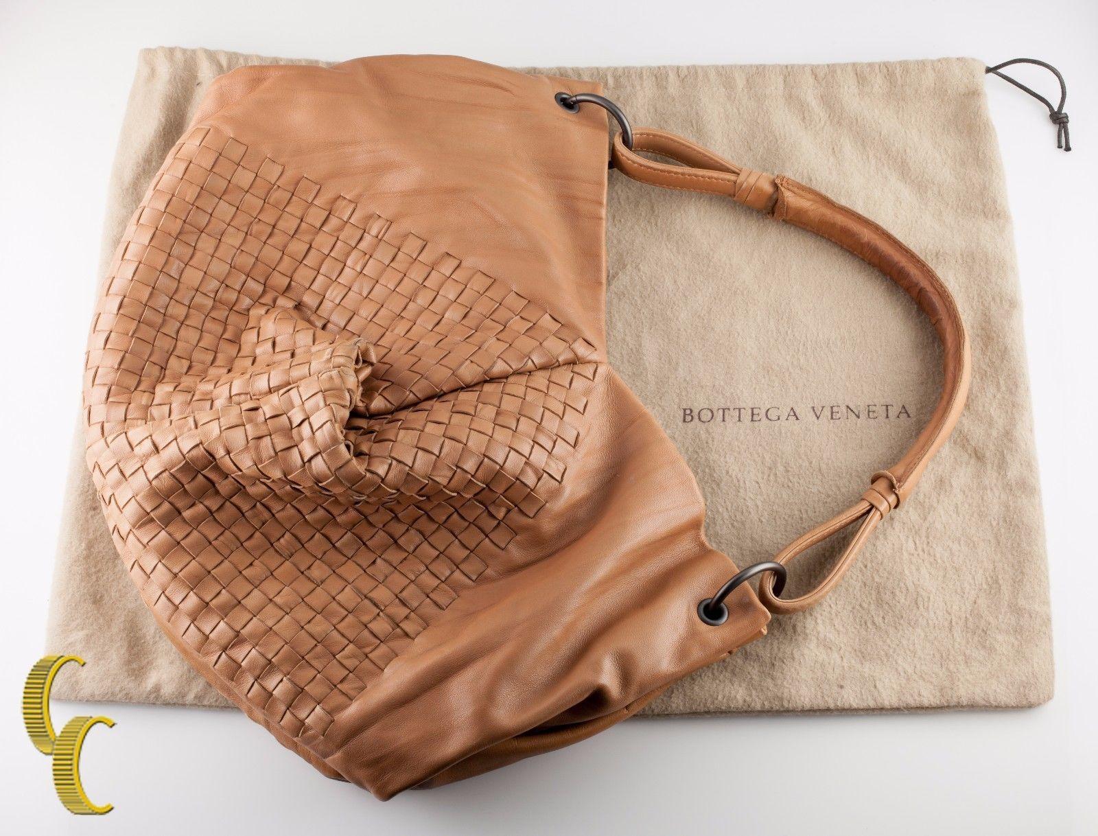 Bottega Veneta Leather Intrecciato Nappa Aquilone Fortune Cookie Hobo Bag Purse - $989.99