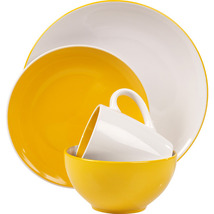 Yellow Mil Dinnerware 16 Piece Set  Service for 4 - $179.99