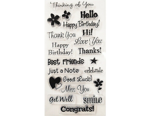Many Sentiments Clear Stamp Set