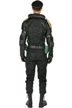 XCOSER Judge Dredd Costume Black PU Leather Uniform Cosplay Costume - $243.78 CAD